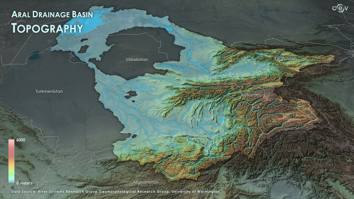 Aral Basin Topography